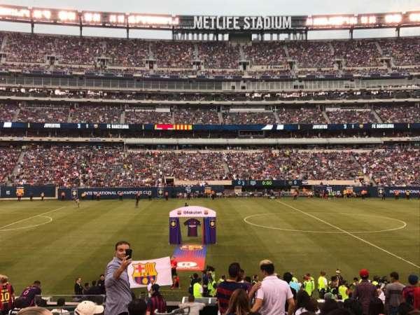 MetLife Stadium, secção: 114, fila: 15, lugar: 11