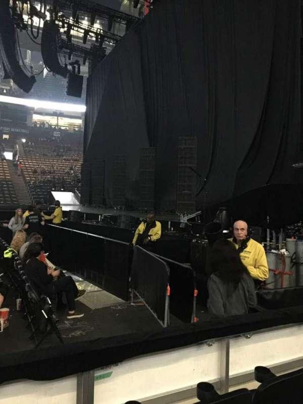 Scotiabank Arena, secção: 118, fila: 3, lugar: 8