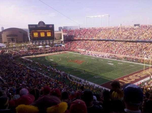 TCF Bank Stadium, secção: 231, fila: 27, lugar: 23