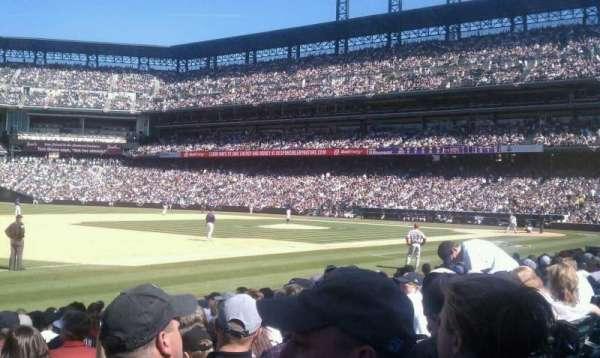 Coors Field, secção: 142, fila: 11, lugar: 14