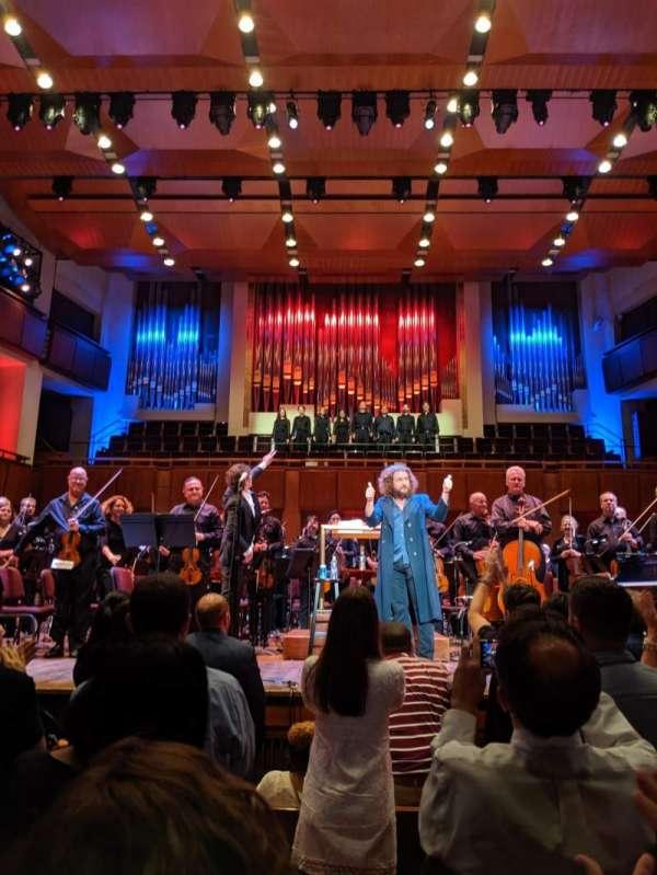 The Kennedy Center Concert Hall, secção: Orch, fila: F, lugar: 107