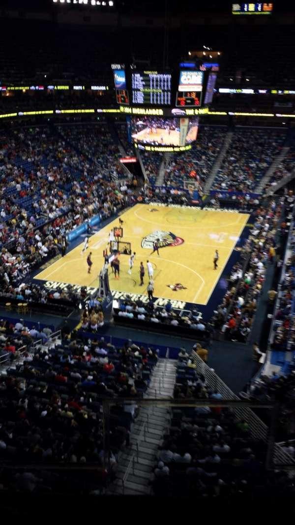 Smoothie King Center, secção: 307, fila: 2, lugar: 2