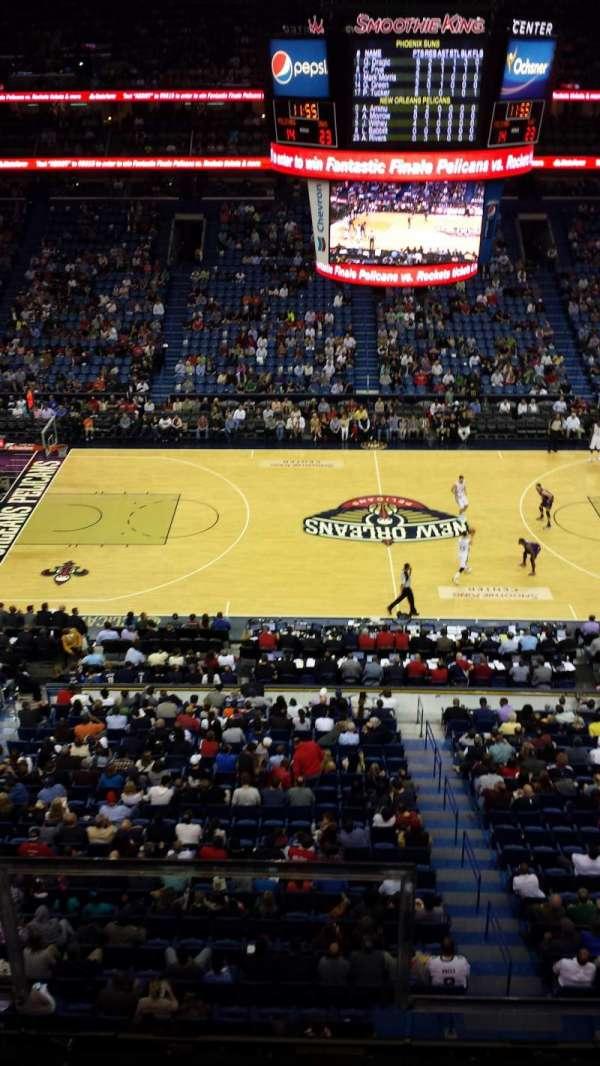 Smoothie King Center, secção: 317, fila: 2, lugar: 2