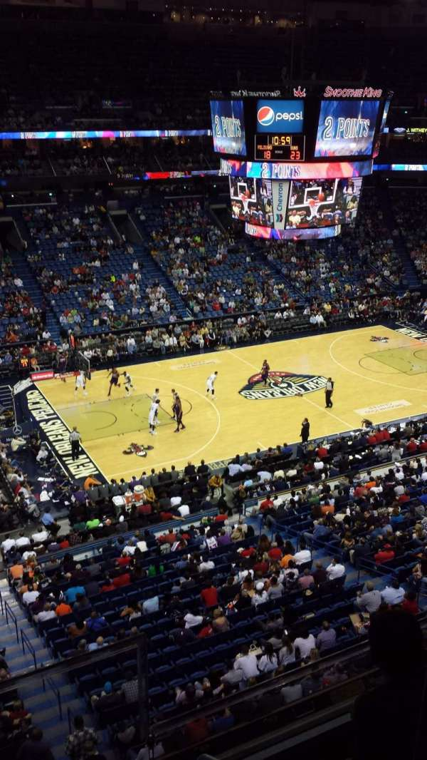 Smoothie King Center, secção: 319, fila: 2, lugar: 2