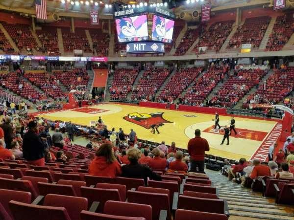 Redbird Arena, secção: K, fila: 17, lugar: 1