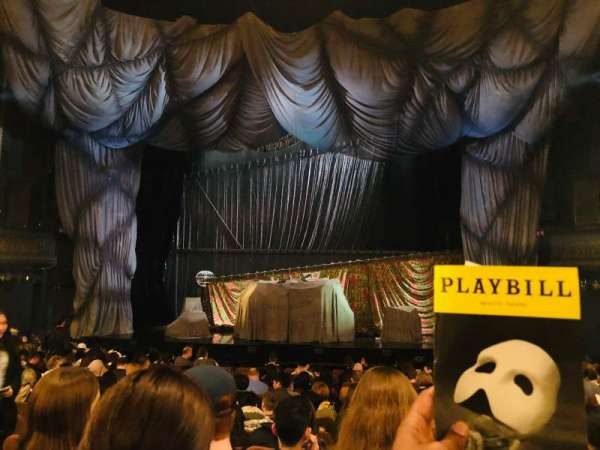 Majestic Theatre, secção: Orchestra C, fila: M, lugar: 111