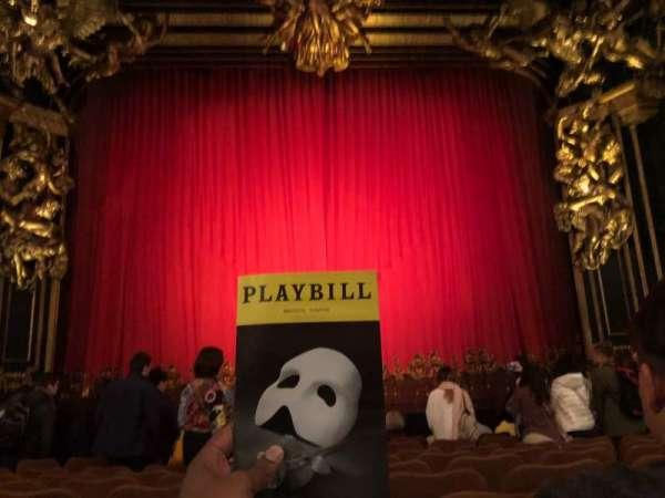 Majestic Theatre, secção: Orchestra C, fila: H, lugar: 106