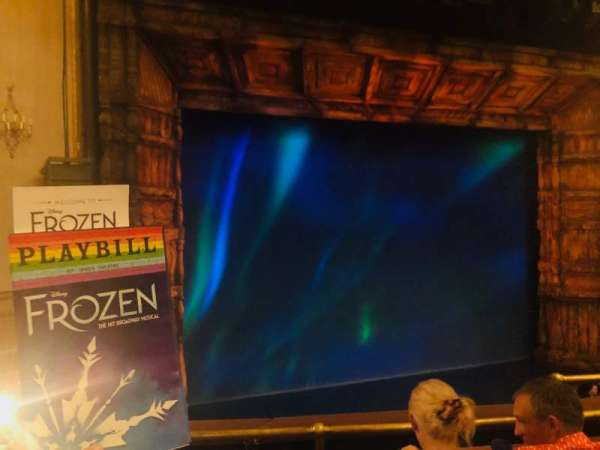 St. James Theatre, secção: Mezzanine L, fila: C, lugar: 7