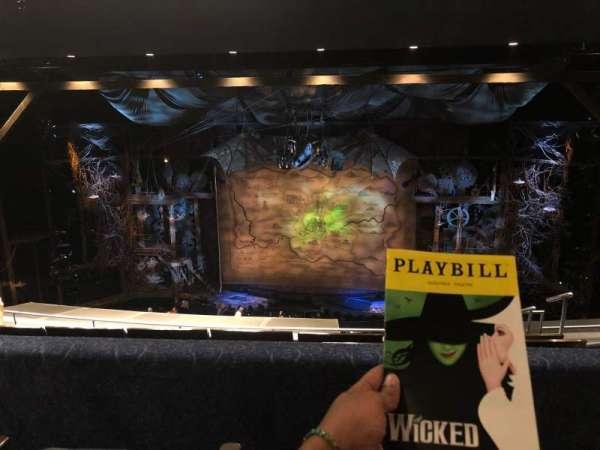 Gershwin Theatre, secção: Mezzanine, fila: G, lugar: 116