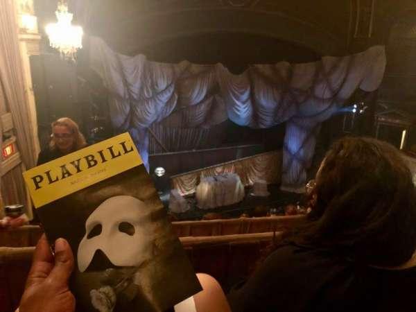 Majestic Theatre, secção: Rear Mezzanine L, fila: B , lugar: 5