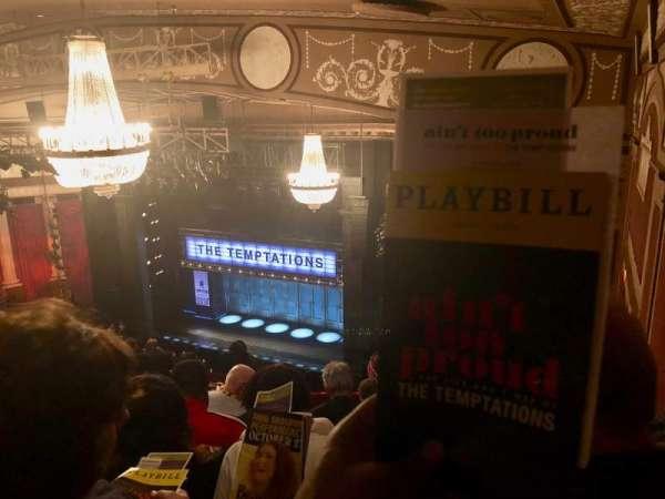 Imperial Theatre, secção: Rear Mezzanine 1, fila: H, lugar: 7