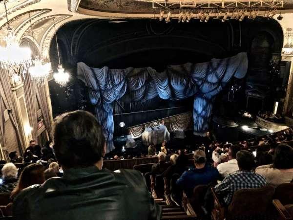 Majestic Theatre, secção: Rear Mezzanine L, fila: H, lugar: 1