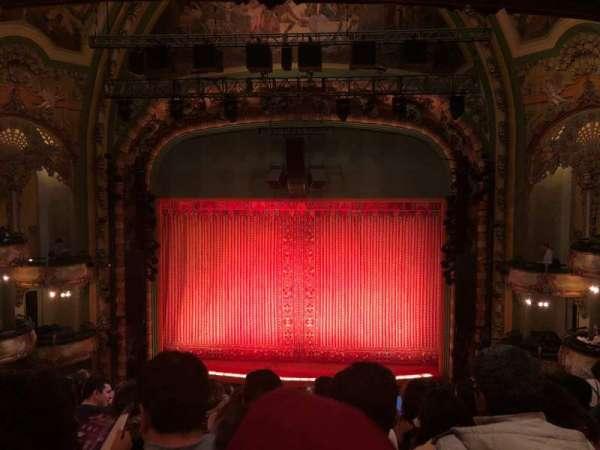 New Amsterdam Theatre, secção: Mezzanine C, fila: JJ, lugar: 105