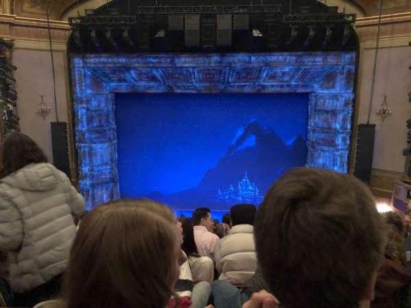 St. James Theatre, secção: Mezzanine C, fila: K, lugar: 106
