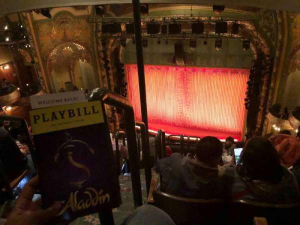 New Amsterdam Theatre, secção: Balcony R, fila: H, lugar: 2