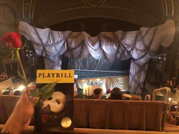 Majestic Theatre, secção: Rear Mezzanine, fila: A, lugar: 110