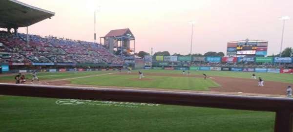 McCoy Stadium, secção: 2, fila: A, lugar: 15
