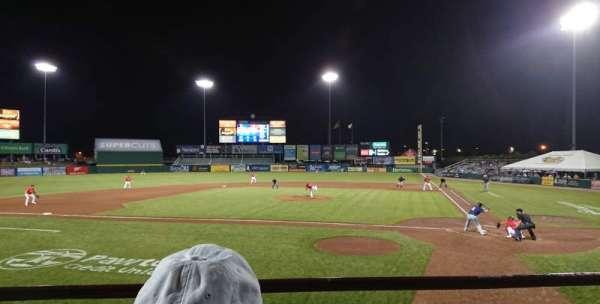McCoy Stadium, secção: 9, fila: B, lugar: 1