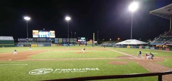 McCoy Stadium, secção: 10, fila: B, lugar: 1