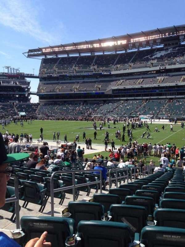 Lincoln Financial Field, secção: 123, fila: 23, lugar: 22
