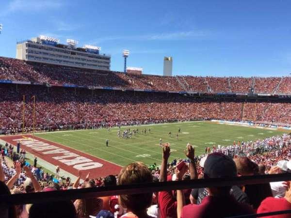 Cotton Bowl, secção: 29, fila: 46, lugar: 19