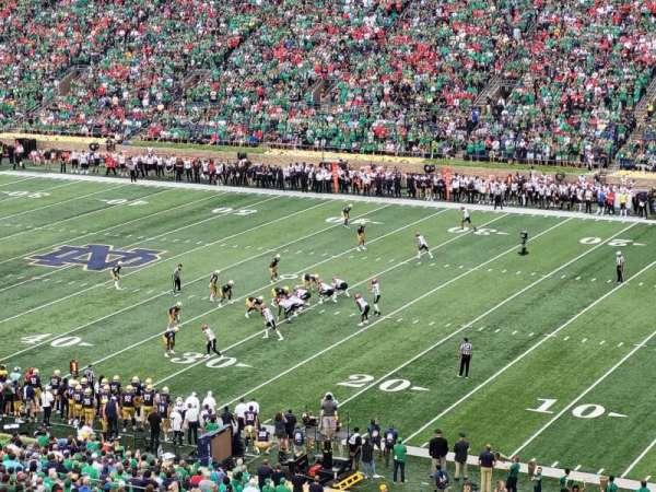 Notre Dame Stadium, secção: 125, fila: 15, lugar: 12