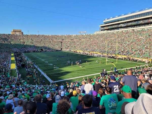 Notre Dame Stadium, secção: 21, fila: 46, lugar: 30