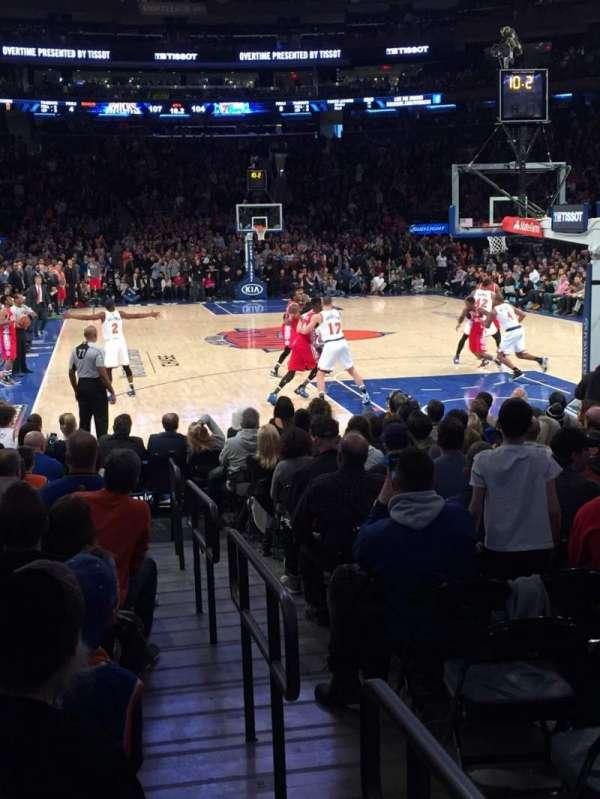 Madison Square Garden, secção: 7, fila: 13, lugar: 5