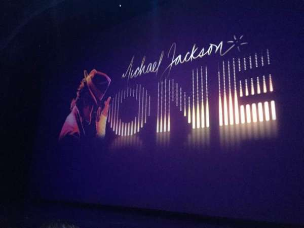 Michael Jackson One Theatre, fila: 2, lugar: 2