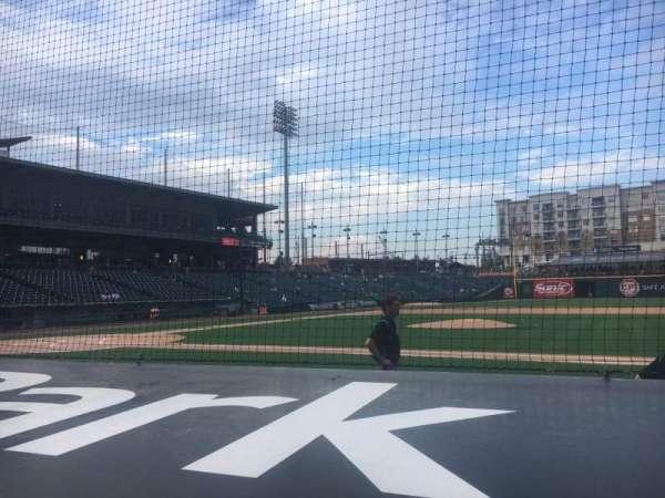 BB&T Ballpark (Charlotte), secção: 107, fila: E, lugar: 2