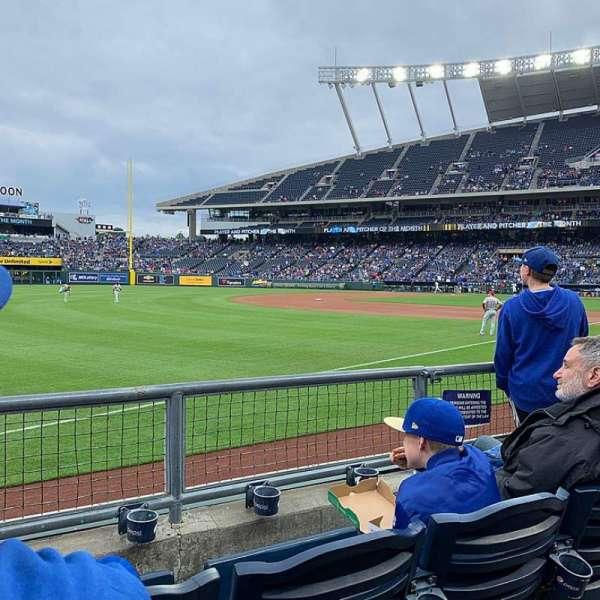 Kauffman Stadium, secção: 112, fila: E, lugar: 7