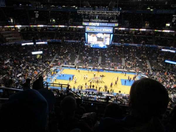 Chesapeake Energy Arena, secção: 323, fila: K, lugar: 18