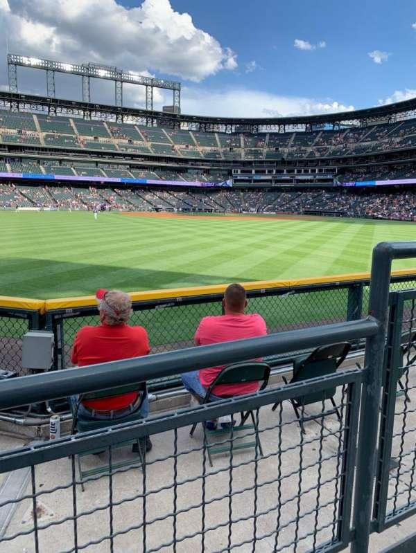 Coors Field, secção: 157, fila: 2, lugar: 2