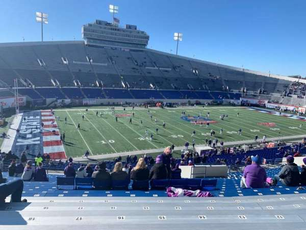 Liberty Bowl Memorial Stadium, secção: 123, fila: 53, lugar: 17