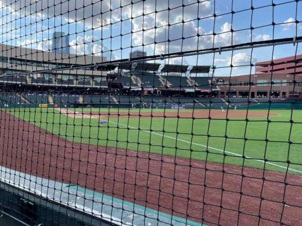 Chickasaw Bricktown Ballpark, secção: 118, fila: A, lugar: 2