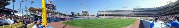 Dodger Stadium, secção: 49FD, fila: AA, lugar: 4