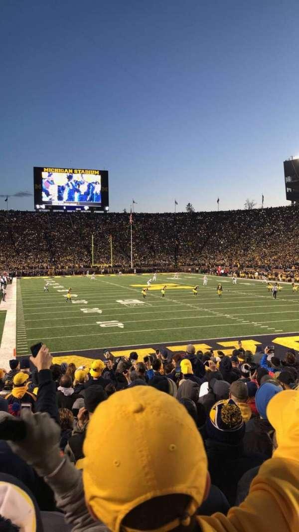 Michigan Stadium, secção: 37, fila: 16, lugar: 34