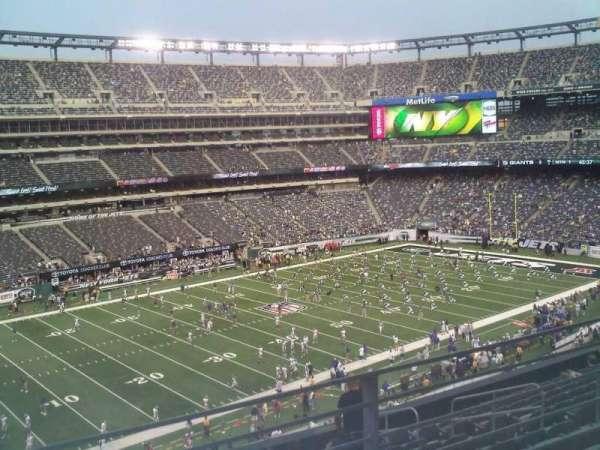 MetLife Stadium, secção: 244, fila: 8, lugar: 6