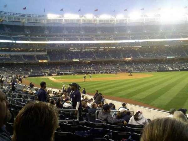 Yankee Stadium, secção: 108, fila: 18, lugar: 6