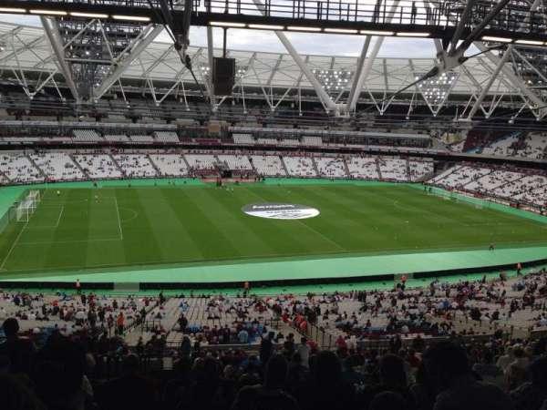 London Stadium, secção: 233, fila: 164, lugar: 517