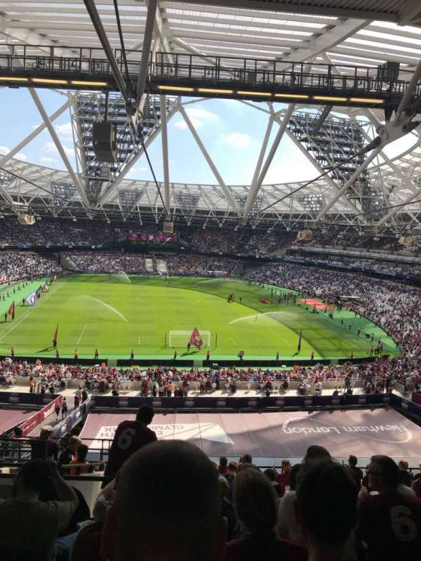 London Stadium, secção: 249, fila: 61, lugar: 21