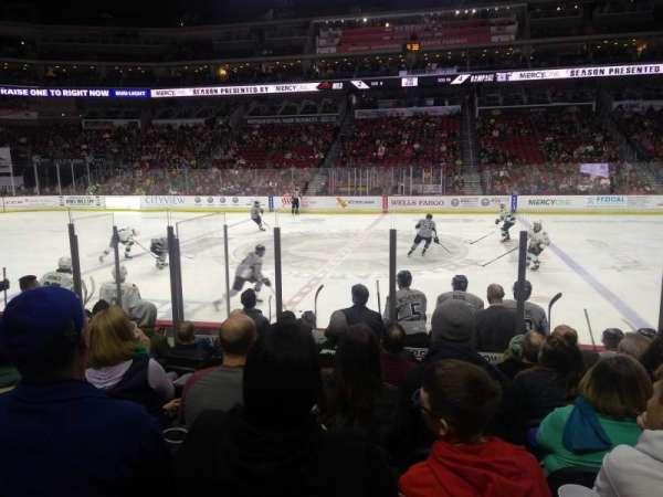 Wells Fargo Arena, secção: 104, fila: J, lugar: 1