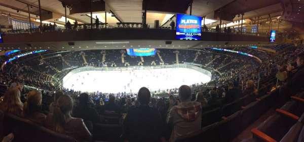 Madison Square Garden, secção: 210, fila: 20, lugar: 13