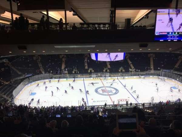 Madison Square Garden, secção: 210, fila: 20, lugar: 14