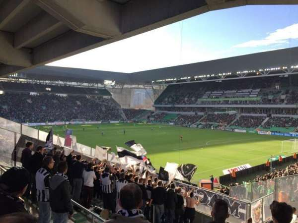 Stade Geoffroy-Guichard, secção: Tribune H.Point, fila: V30
