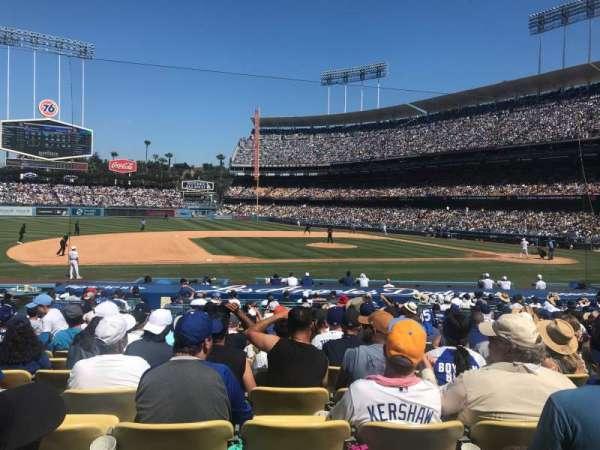 Dodger Stadium, secção: 25FD, fila: P, lugar: 3