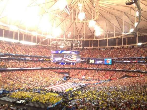 Georgia Dome, secção: 230, fila: 15, lugar: 10