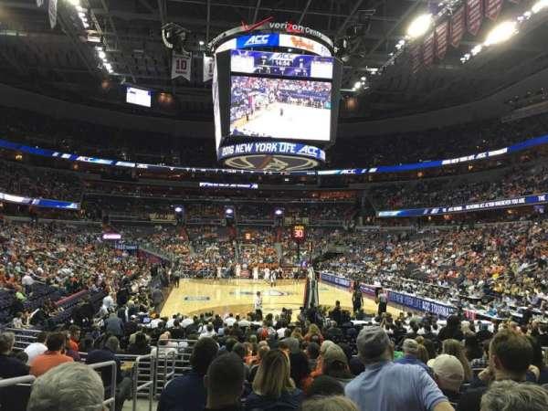 Capital One Arena, secção: 105, fila: L, lugar: 2