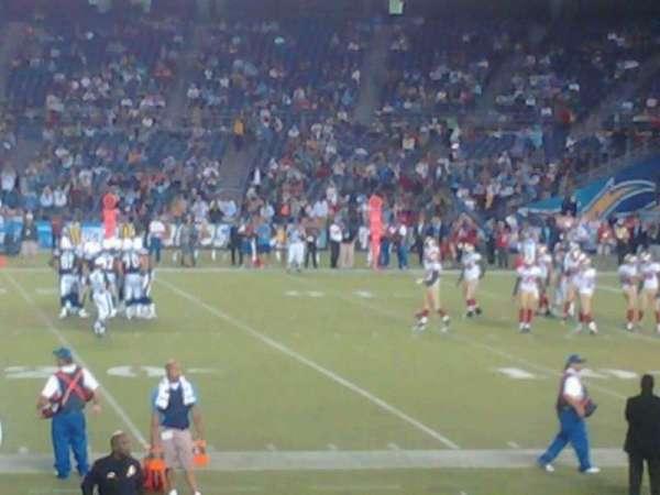 San Diego Stadium, secção: F8, fila: 17, lugar: 8