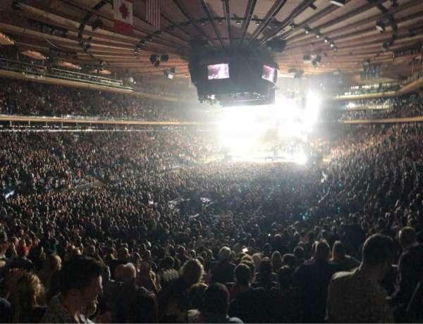 Madison Square Garden, secção: 103, fila: 20, lugar: 20
